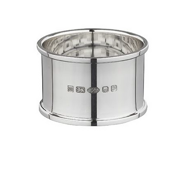 Classic Edged Silver Napkin Ring
