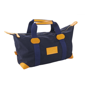 Blue Canvas And Yellow Leather Travel Bag