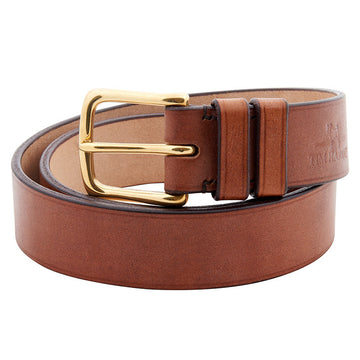 Oak Bark Leather Bespoke Belt With West End Buckle