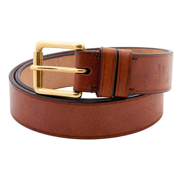 Oak Bark Leather Bespoke Belt With Roller Buckle