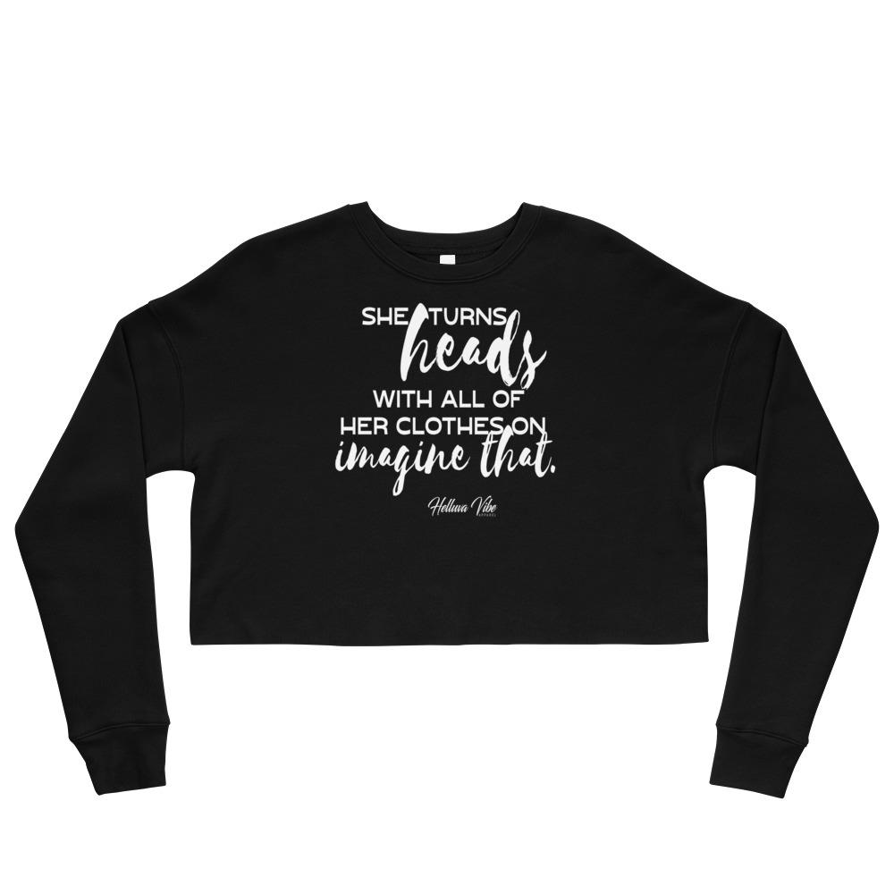 Imagine that Script Print Crop Sweatshirt