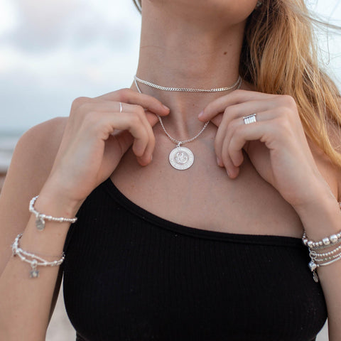 Large Vanessa horoscope - sterling silver