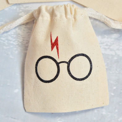 harry potter glasses glitter party favor set of 12 bags