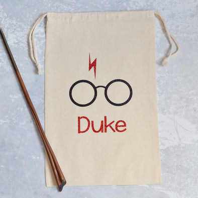 Harry Potter inspired Wizard personalized Sparkle Sack Gift Bags