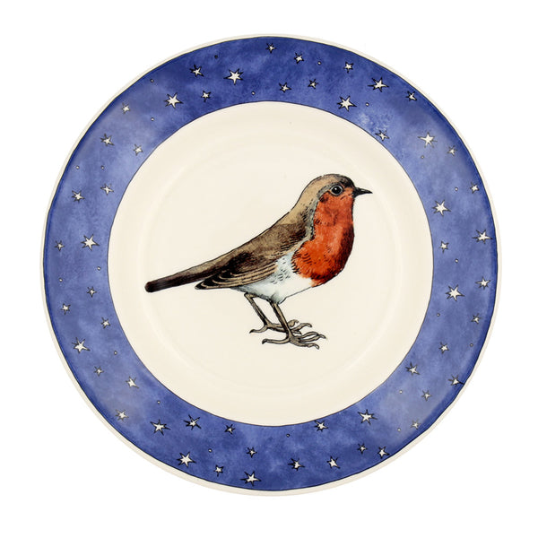 ROBIN IN A STARRY NIGHT 8.5 PLATE