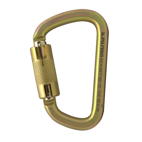 Steel Modified D Auto Lock Carabiner (M8-8994-3K)