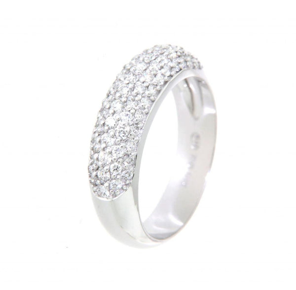 18ct White Gold Diamond Set Pave Ring