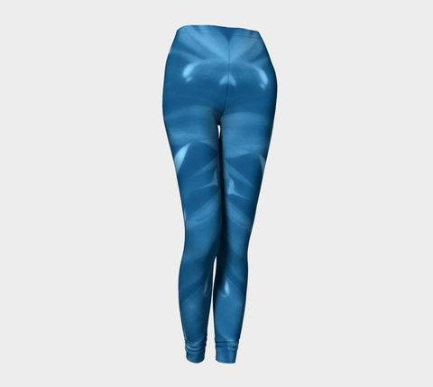 'Blue Mum Pin-up Girl' Leggings - Tru-Artwear.ca