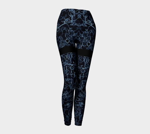 'Blue Vine Pin-up Girl' Leggings - Tru-Artwear.ca