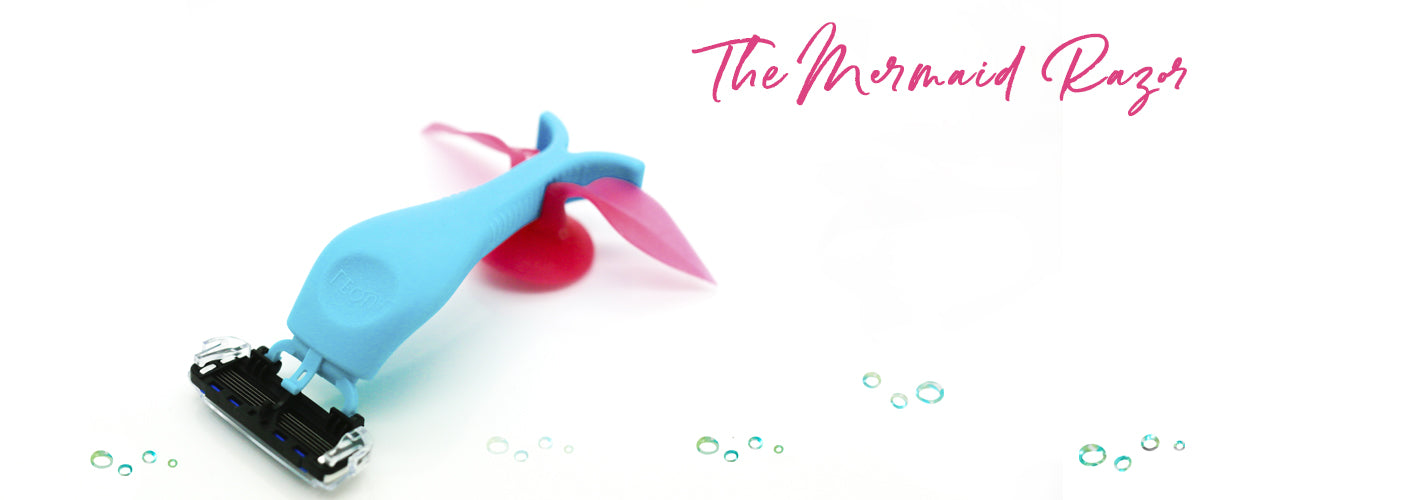 the mermaid razor by lequa beauty is made for mermaids by mermaids.  delivering the smoothest shave ever.