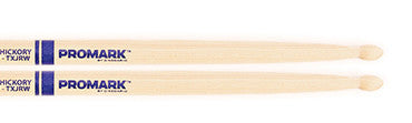 "This is a picture of a ProMark TXJR Hickory JR ""Junior"" Wood Tip Drum Sticks"