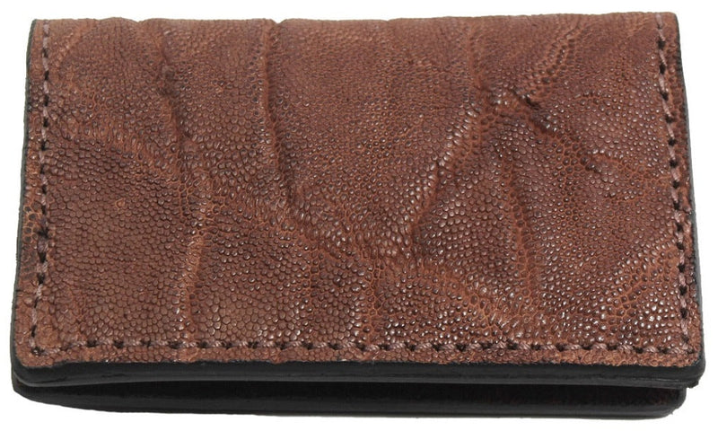 Bullhide Belts Genuine Caramel Brown Elephant Credit Card & Business Card Wallet