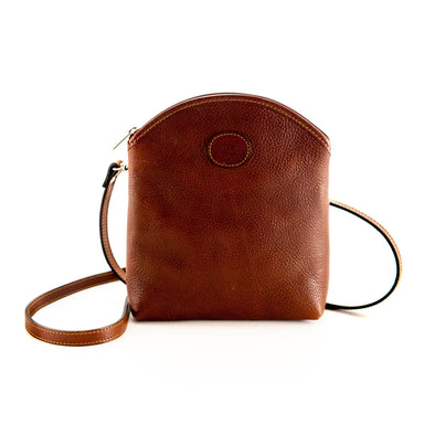 The Italian Tech Leather Bag in Brown - at LUCA Boutique