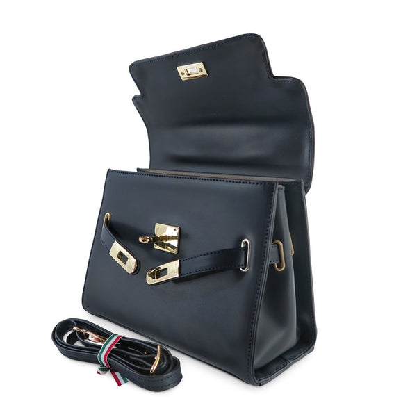 Susan Grace Small Italian Leather Bag, with removable shoulder straps - at LUCA Boutique