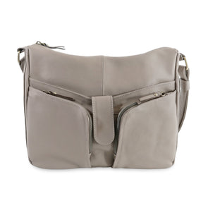 Melania Italian Leather Handbag Collection, Taupe - exclusively at LUCA Boutique