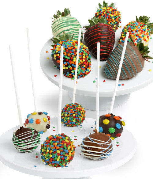 Birthday Chocolate Covered Strawberries & Cake Pops - Chocolate Covered Company®