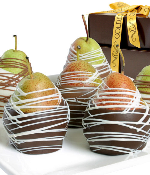 Classic Belgian Chocolate Covered Pears - Chocolate Covered Company®