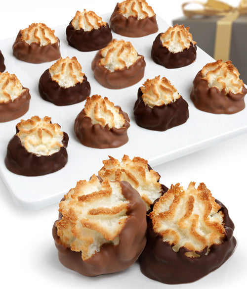 Belgian Chocolate Dipped Macaroons - 12pc - Chocolate Covered Company®