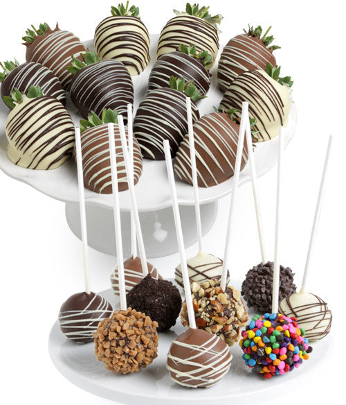 Classic Chocolate Strawberries & Cake Pops - 22 pc - Chocolate Covered Company®