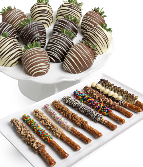 Classic Chocolate Covered Strawberries & Ultimate Pretzels - 24pc - Chocolate Covered Company®