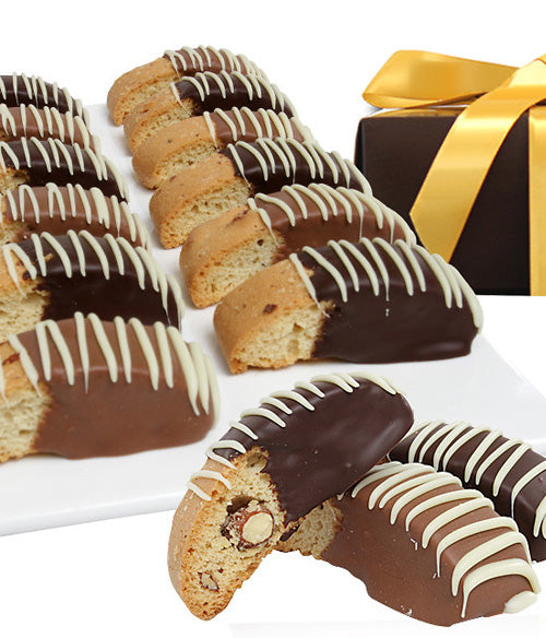 Classic Belgian Chocolate Covered Biscotti - 12pc - Chocolate Covered Company®