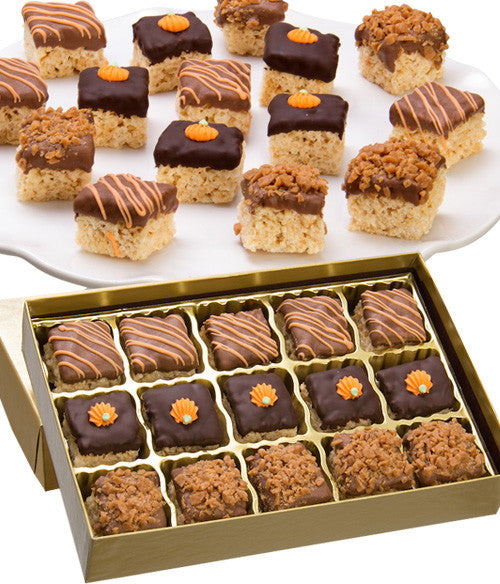 Fall Belgian Chocolate Crispy Bites - 15pc - Chocolate Covered Company®