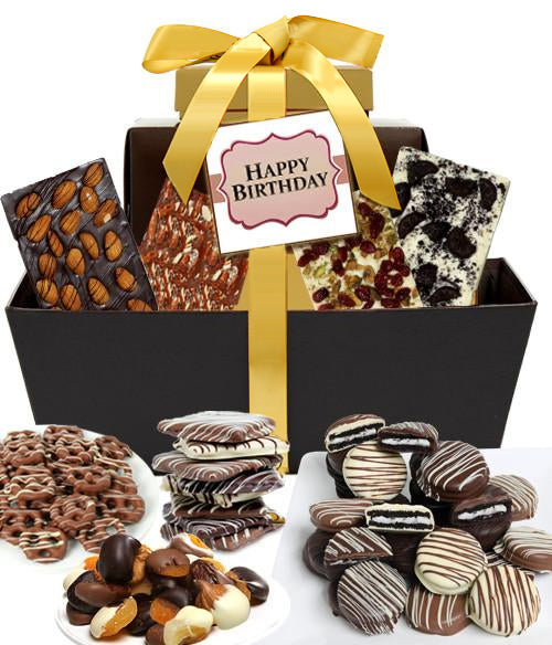 HAPPY BIRTHDAY - Mega Delectable Chocolate Gift Basket - Chocolate Covered Company®