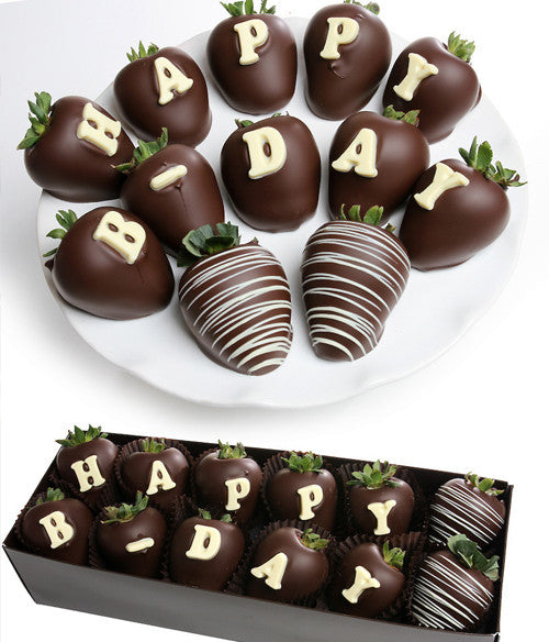 """HAPPY B-DAY"" Berry-Gram® - Chocolate Covered Company®"