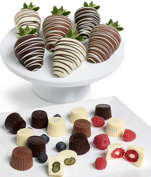 Mixed Chocolate Covered Berries - (Strawberries,  Raspberries,  Blueberries) - Chocolate Covered Company®