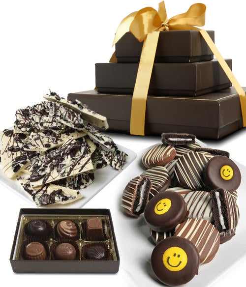 SMILE BELGIAN CHOCOLATE Gourmet Gift Tower (ARTISAN EDITION) - Chocolate Covered Company®