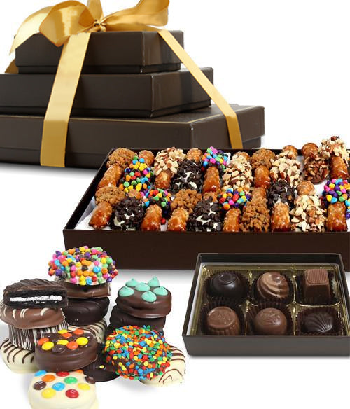Celebration Dipped Favorites Gift Tower - Chocolate Covered Company®