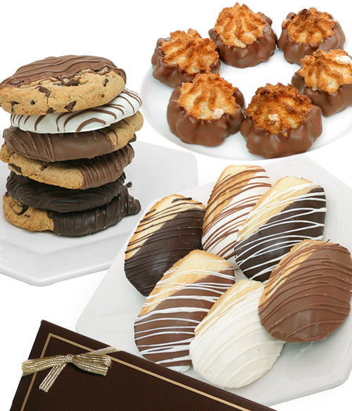 Gourmet Dipped Bakery Cookie Trio - 18pc - Chocolate Covered Company®