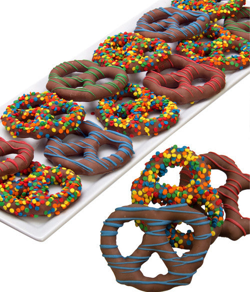 Birthday Chocolate Covered Pretzel Twists- 12pc - Chocolate Covered Company®