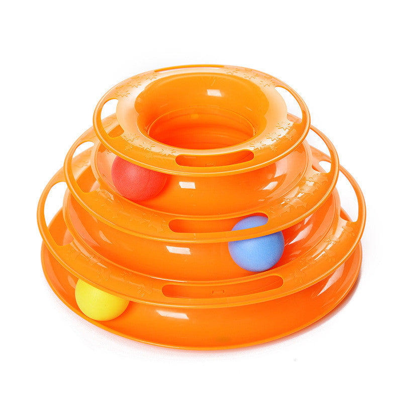 Three Levels Tower Cat Toy. FREE SHIPPING WORLDWIDE