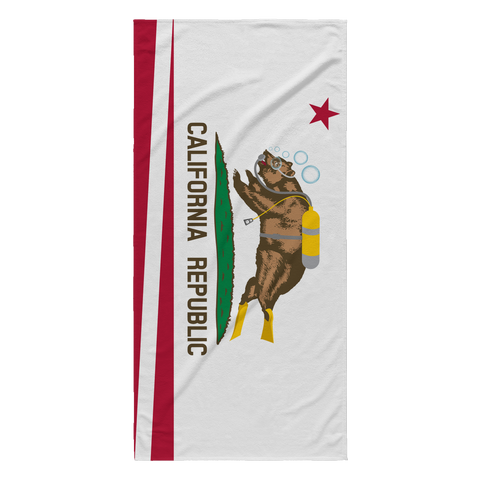 Beach Towel - California Diving