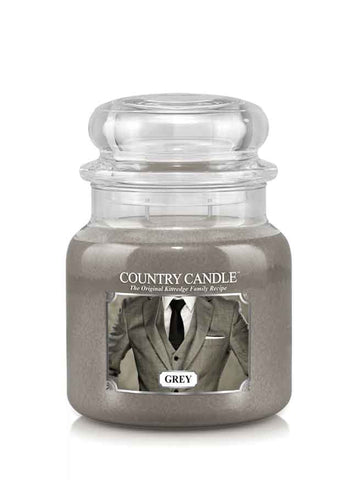 Grey Medium Jar Candle