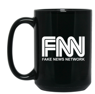 Fake News Network 15 oz. Black Mug - Trumpshop.net