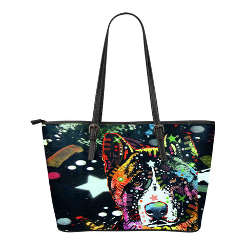 Akita Small Leather Tote Bags - Dean Russo Art