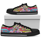 Poodle Men's Low Top Canvas Shoes - Dean Russo Art