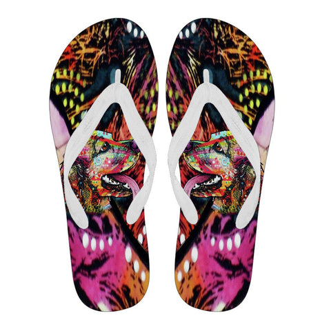 Cocker Spaniel Design Women's Flip Flops  - Dean Russo Art