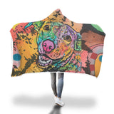 Labrador Design Hooded Blanket - Dean Russo Art