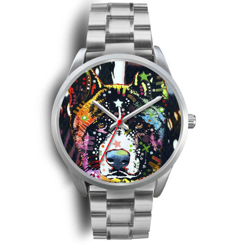 Akita Silver Watch Design - Dean Russo Art