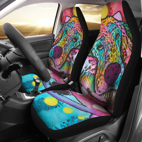 Irish Setter Series Design Car Seat Covers Colorful Back- Dean Russo Art
