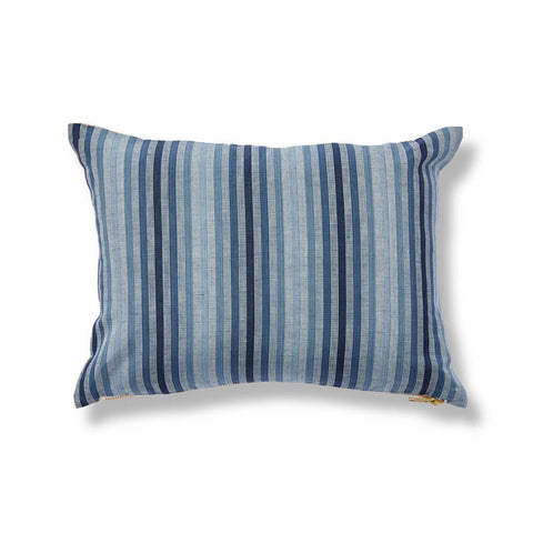 Grass Pillow in Butter/Blue