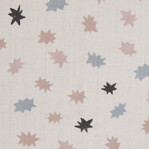 Stars Fabric in Gray Taupe