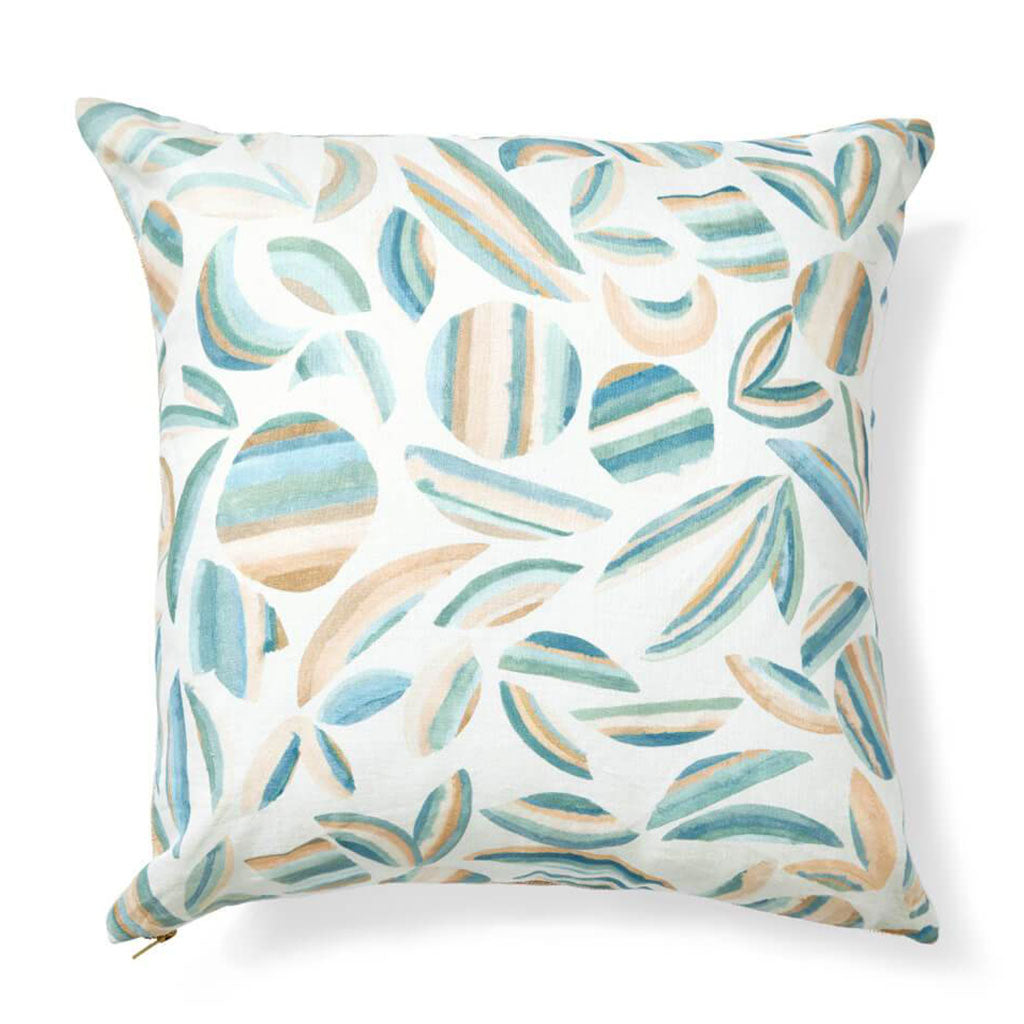 Striped Garden Pillow in Garden Green