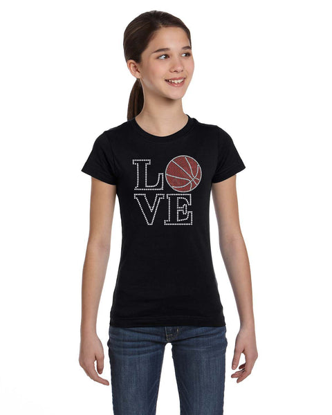 Love Basketball Rhinestone Tee - In The Limelight