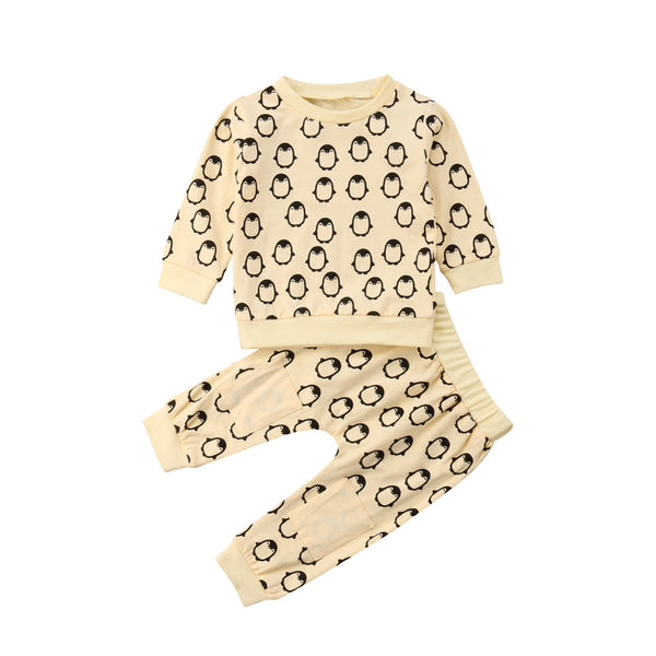 Yellow Penguin Pant Set - In The Limelight