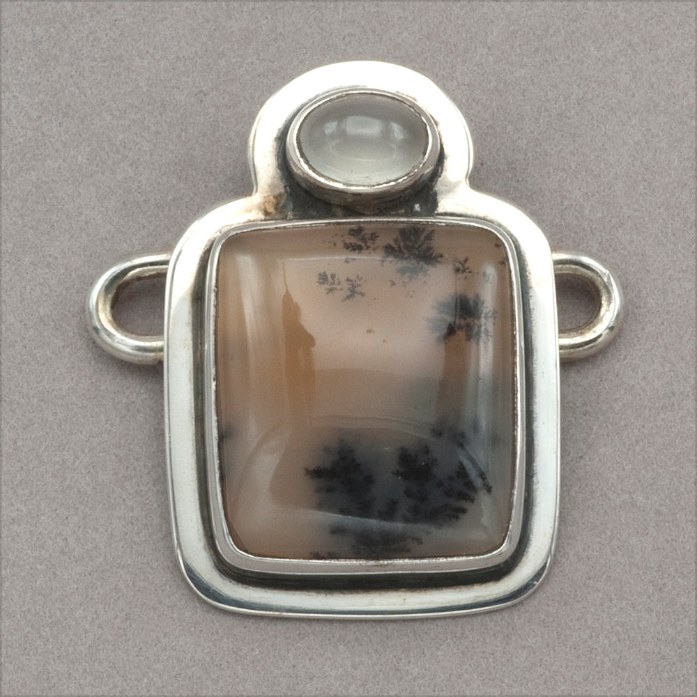 Tabra Moonstone and Sage Agate Charm