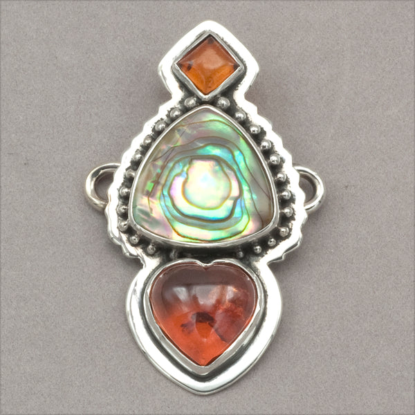 Tabra Amber and Abalone Charm
